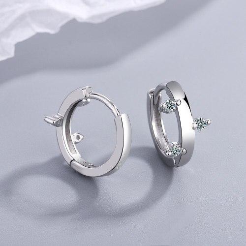 Mori Elegant Lady Branch Ear Clip Artistic European and American Women's Diamond Branch Buds Earrings Xzeh649