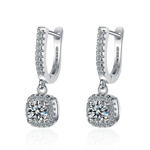 Stud Earrings Women 'S Korean-Style Personalized Diamond-Embedded Short Earrings Hollow Zircon Earrings Xzeh626