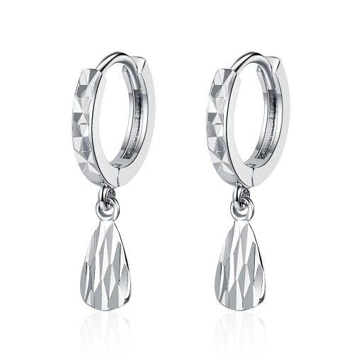Ear Clip Women's Korean-Style Fresh round Ear Clip Elegant Carven Design Ear Ring Simple Water Drop Ear Rings Women's Xzeh625