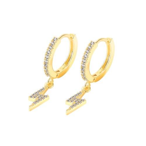 INS Simple Temperament Diamond Earrings Fashion Tassel Lightning Stud Earrings Gb754