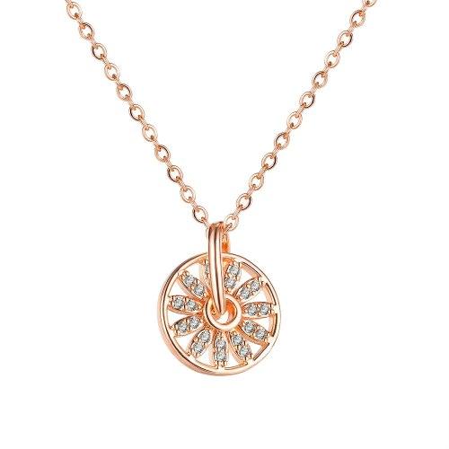 INS Fashion Diamond Necklace Ferris Wheel Clavicle Chain Pendant Gb019