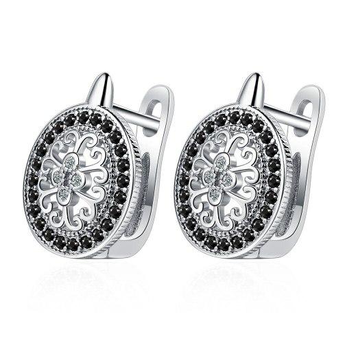 INS Ear Clip Women's European Sweet Diamond-Embedded round Ear Clip Elegant Personality Small Ear Rings Women Xzeh623