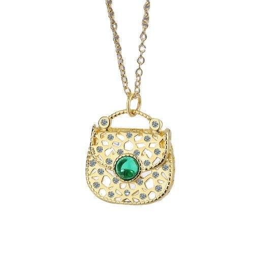 Necklace Women's Korean-Style Fresh Personalized Diamond Bag Pendant Temperament Short Clavicle Necklace Chic XZDZ549