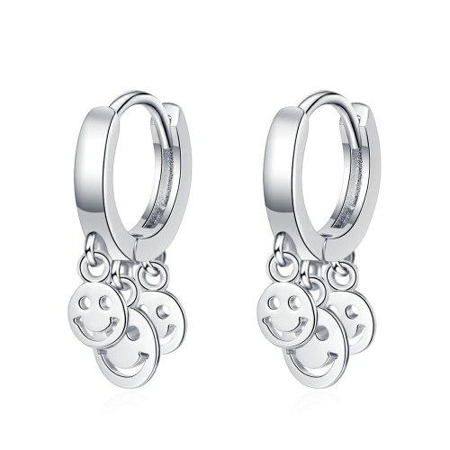 Smile Ear Clip Women's Korean-Style Fashionable Elegant Smiley Stud Earrings Short Earrings Xzeh624