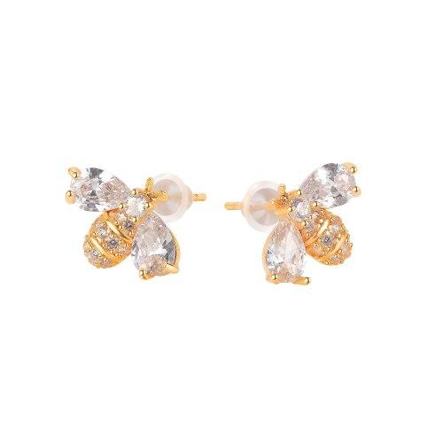 INS Fashion Elegant Bee Stud Earrings Socialite Earrings Simple Earrings for Girlfriend Gb748