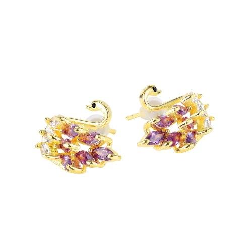 Korean Style Niche Personalized All-Match Stud Earrings Elegant Fashion Swan Stud Earrings Gb752