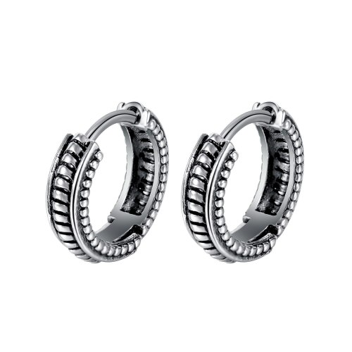 Korean Style Personalized Hip Hop Style Stainless Steel Earrings Fashionable Simple C- Shaped Retro Earrings for Boyfriend Gb680
