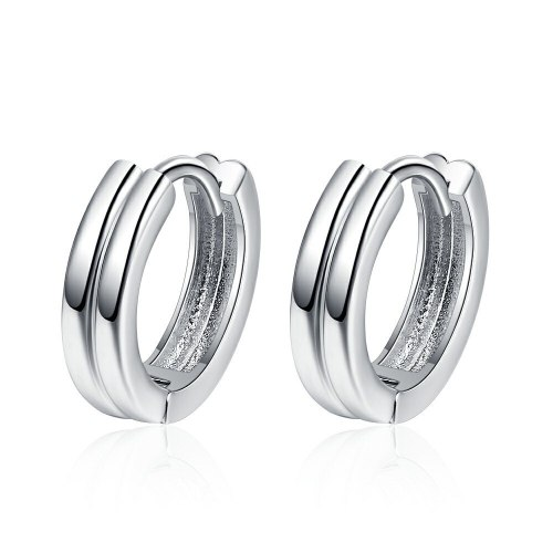 Women's Korean-Style Elegant Double-Layer Simple Stud Earrings Trendy Hollow-out Fashion Earrings Xzeh621