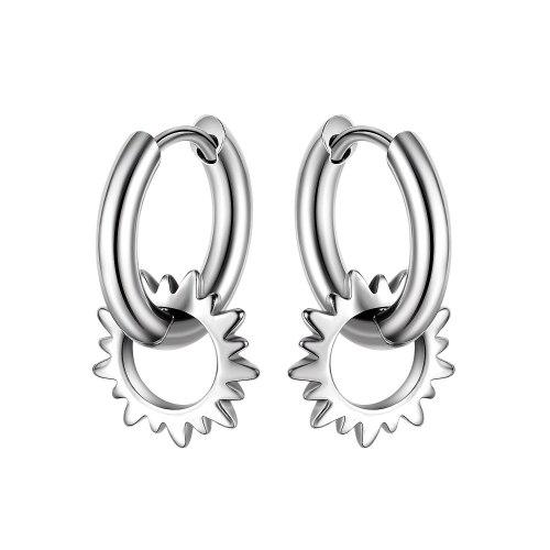 2021summer New Street Shot Hip Hop Fashion Stud Earrings Trendy All-Match Stainless Steel Earrings Gb681