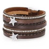 Hot Accessories Leather Bracelet European and American Vintage Jewelry Magnet Xingyue Women's Bracelet Ornament Simple 0524