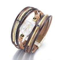 Cross-Border European and American Freshwater Baroque Pearl Bracelet Female Magnetic Buckle Bracelet Handmade Ornament