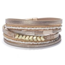 European and American Rice-Shaped Beads Stringed Beads Hand-Woven Bracelet Multi-Layer Women's Bracelet New Wholesale