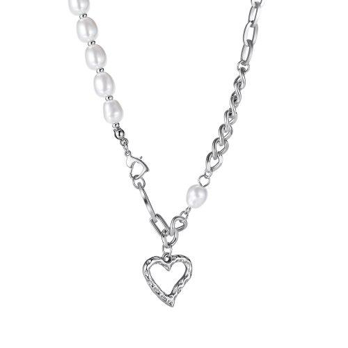 Ornament Korean Style Minimalist Creative Love Pendant Temperament Wild Stainless Steel New Women's Necklace 1971