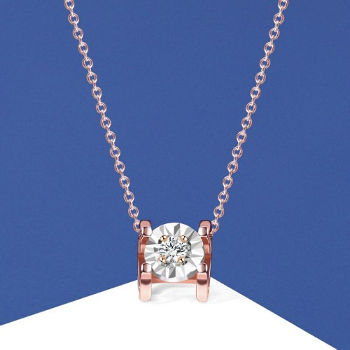 S925 Sterling Silver Ornament Zircon Necklace Women's Light Luxury Internet Celebrity Rose Gold Clavicle Tide Necklace A2064