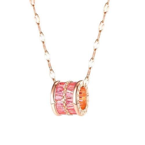 Korean-Style Zircon Small Waist Necklace Versatile Elegant Lucky Beads Clavicle Chain Pendant Female Gb039