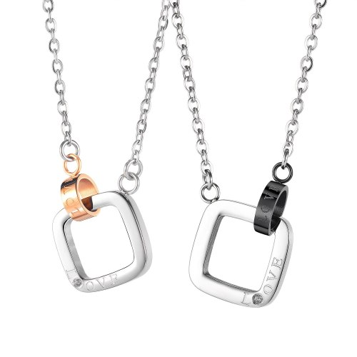 Ornament New Special-Interest Design Japanese and Korean Simplicity Versatile Couple Stainless Steel Necklace 1959