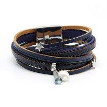 New Women's Jewelry 38cm Pearl Crystal XINGX Bracelet Three-Color Winding Double-Layer Bracelet