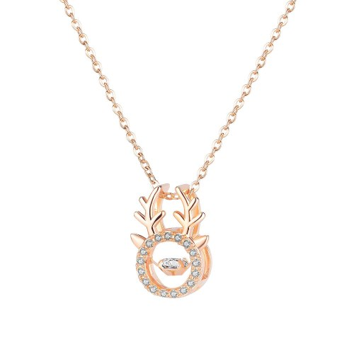 Japanese and Korean Fashion Necklace New Antlers Smart Clavicle Chain Inlaid Zircon Necklace Gb045