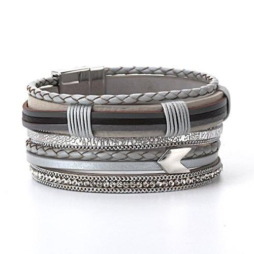 Bohemian Multi-Layer Braided Bracelets Ethnic Arrow Pattern Wide-Brimmed Bracelet