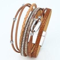 Woven Alloy Shell Bracelet Female Accessories European and American Bracelet Cross-Border  Accessories Retro Magnetic Bracelet