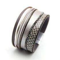 Snake Skin Pattern Rhinestone-Encrusted European and American Style Bracelet Jewelry Bracelet Ladies' Bracelet Jewelry