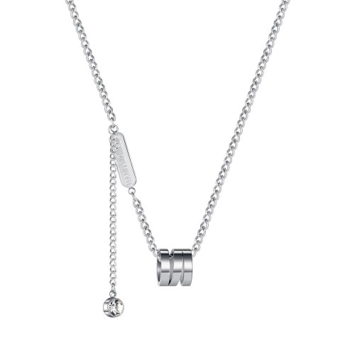 Ornament Cross-Border Special-Interest Design Circle Pendant Fashion Hip-Hop Fashion Women's Stainless Steel Necklace 1979