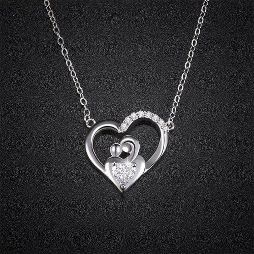 New Cross-Border Love Necklace S925 Sterling Silver Women's Simple Hollow Chinese Style Pendant A303A