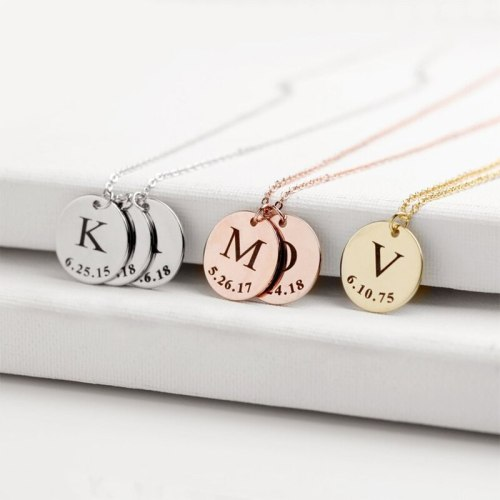 Charms for Jewelry Bracelet Personalized Bar Necklace Stainless Steel Jewelr Making Customized Nameplate Mom Gift Choker