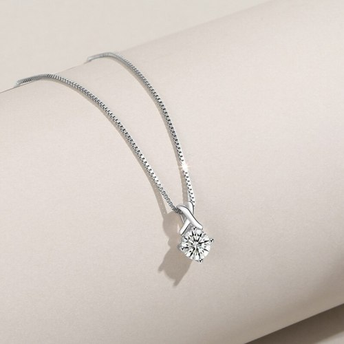 S925 Sterling Silver Zircon Pendant Female Ornament Fashion Korean Style Necklace Pendant A1828