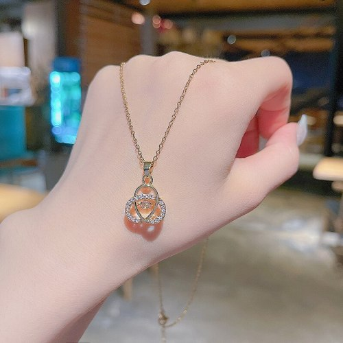 Korean New Geometric Design Titanium Steel Necklace Female Ins Popular Net Red Same Style Fashion Short Necklace