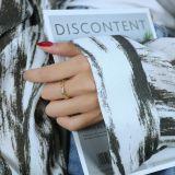 Ornament Korean Fashion Simple Geometric Multi-Edge Diamond Open Zircon Ring Ins Special-Interest Design Index Finger