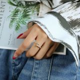 Ornament Niche Design Net Red Personality Nail Ring Ins Trendy Japanese Open Ring