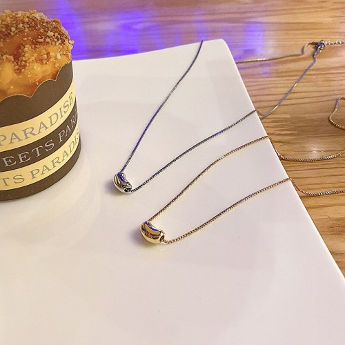 INS Fashion Design Titanium Steel Necklace for Women Simple Pendant Fashion Temperament Clavicle Chain