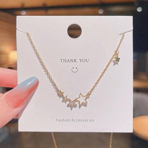 2021 New Fashion Titanium Steel Necklace for Women XINGX Design Sense Clavicle Chain Simple Temperament Necklace