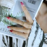 Ornament Ins Special-Interest Design Simple Cold Style Index Finger Ring Fashion Personality Gold Plated Open Ring