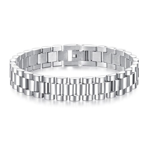 Ornament Japanese and Korean Fashion Men's Stainless Steel Bracelet Simple Personalized All-Match Men's Watch Chain