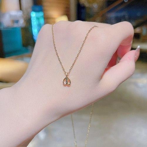 New Design Sense Love Pendant Titanium Steel Necklace for Women Ins Minimalist Style Fashion Short Necklace