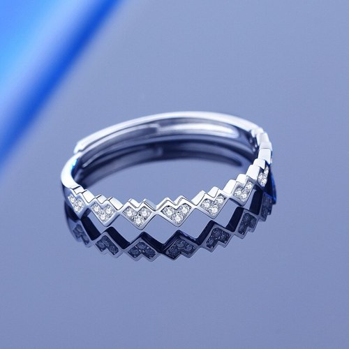 Hot-Selling New Arrival Moissanite Ring 925 Sterling Silver Ins Creative Classic Open Mouth Love Diamond Ring Cross-Border
