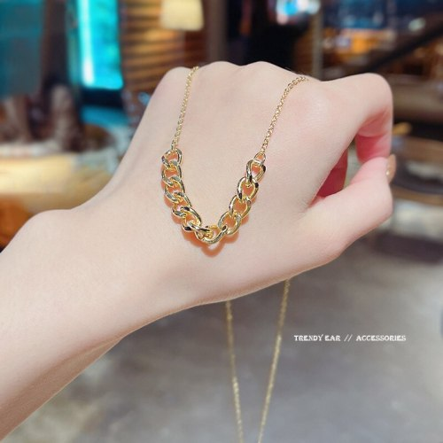 Fashion Internet Celebrity Same Type Ins Trendy Chain Metal Necklace New Design Fashion Temperament Clavicle Chain