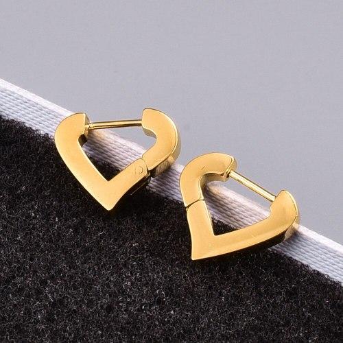 E122 Earrings Wholesale Titanium Steel Lovely Earrings for Women Small Earrings 18K Gold New Fashion French Earrings