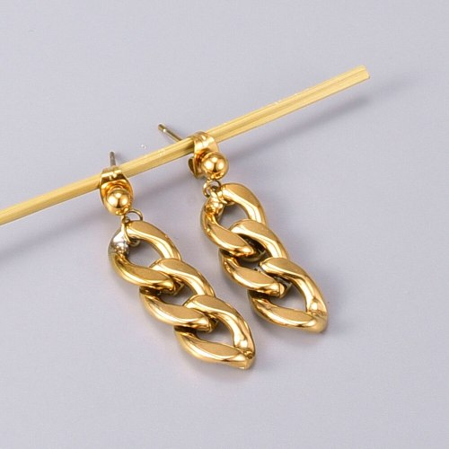 E117 European and American Metal Chain Earrings Titanium Steel Non-Fading Ins Trendy Earrings