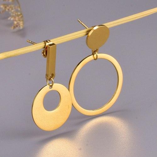 E72 Irregular Metallic Titanium Steel Earrings New Trendy Korean Graceful Online Influencer Retro Stud Earrings Earrings