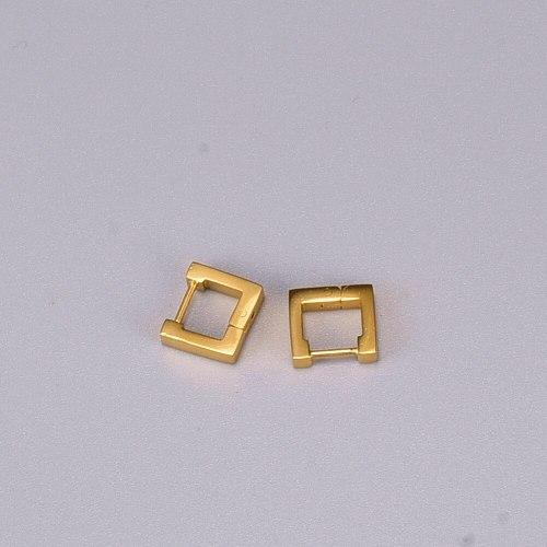 E122 Wholesale Titanium Steel Square Earrings Female Small Earrings 18K Gold New Fashion Style