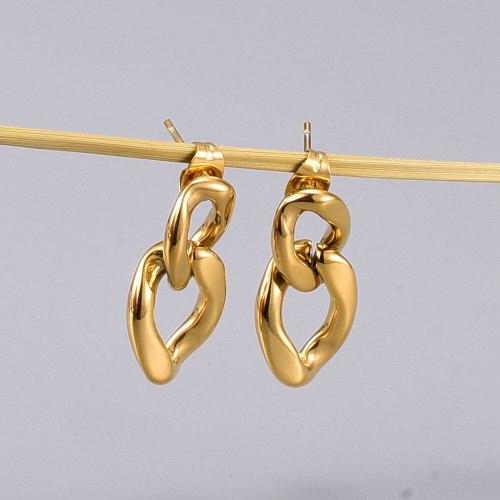 E24 Wholesale European and American Style Natural Pearl Symmetrical Stud Earrings Fashionable Design Temperament Fashion