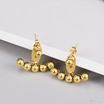E65 Wholesale Earrings 18K Titanium Steel Ear Studs Simple Earrings New Trendy Women's Summer Cool