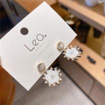 Korean Style Xiaoqing Sweet Flower Earrings Sterling Silver Needle All-Matching Tassel Elegant Lady Personalized Ear Studs