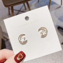 Japanese and Korean Ins Style Simple Ornament 925 Graceful Online Influencer Wholesale Xingyue Shell Earrings