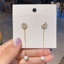 Micro Inlaid Zircon Korean Style Sterling Silver Needle All-Match Temperament Ins Style Korean Style Circle Earrings