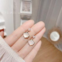Japanese and Korean Style Simple and Fresh Earrings Ins Style Graceful and Petite Cloud Shell Earrings Fashion Student Earrings