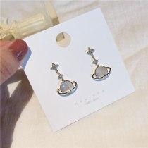 Design Zircon Earrings 925 Silver Needle Planet Earrings Shell Earrings Earrings Wholesale